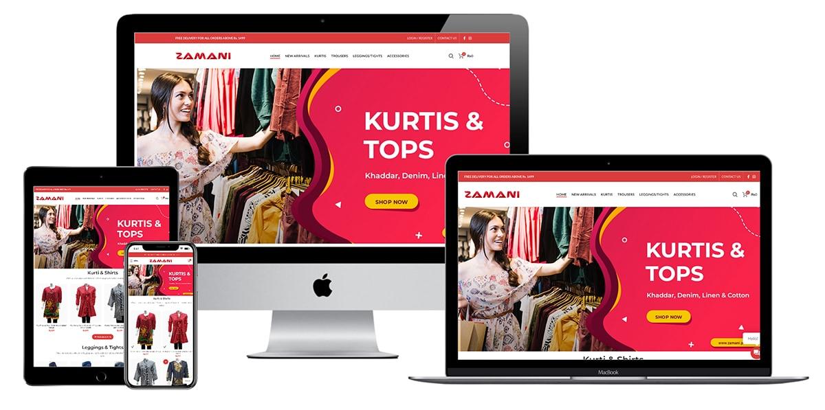 zamani-ecommerce-website